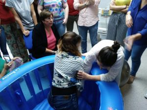 dilatación en el agua hospital quirón