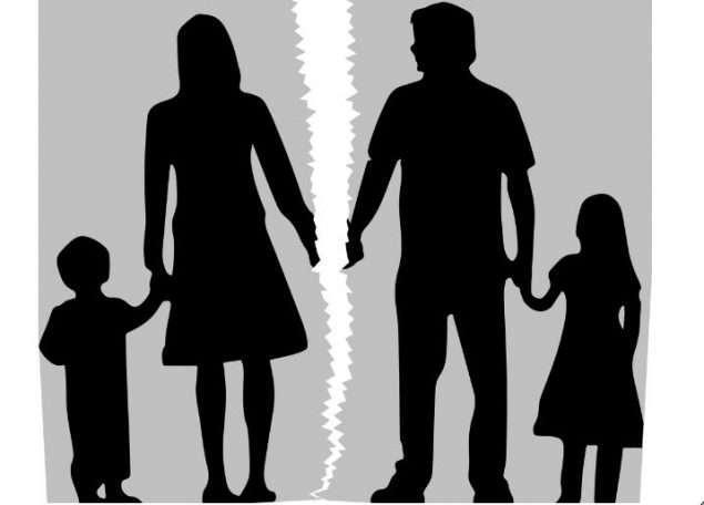 familia rota en dos para hablar de la custodia compartida divorcio ruptura