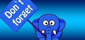 elefante con cartel dont forget para hablar de que perdidas memoria en embarazo son reales