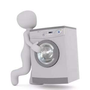 dibujo de hombre llevando una lavadora para hablar de plan renove electrodomesticos