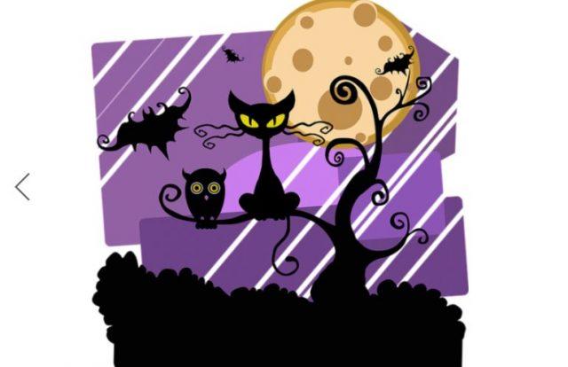 dibujo de gatos, murciélagos de noche miedo pesadillas o terror nocturno