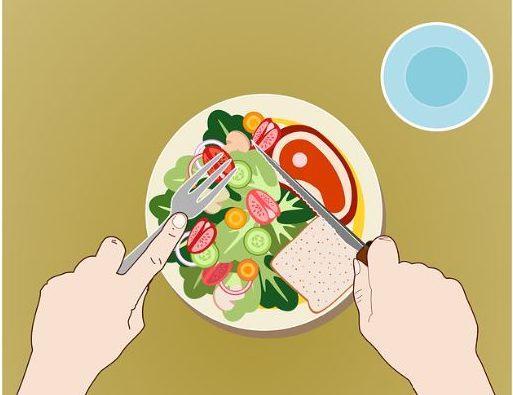 dibujo de plato con comida para hablar de la alimentación antes del embarazo