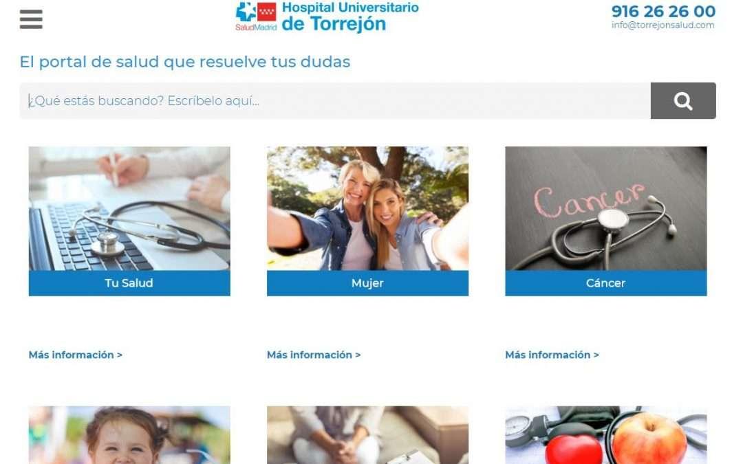 El Hospital de Torrejón crea una web de información sanitaria