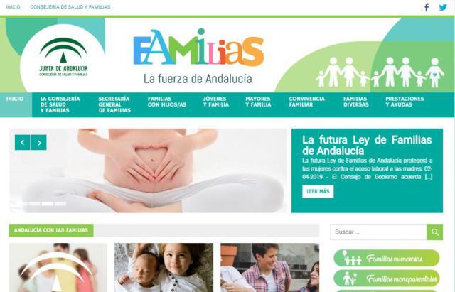 Nueva web y app sobre las ayudas para las familias de Andalucía
