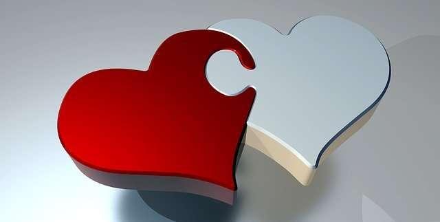 matrimonio o pareja de hecho corazon amor