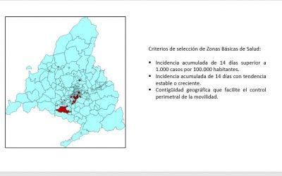 Madrid cierra 37 zonas sanitarias para frenar la expansión del Covid